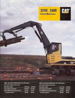 Brochure   Caterpillar   325B 330B Forest Log Loader Machine 97 (EB195