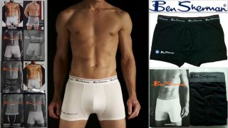 Mens Boxer Shorts Trunks BEN SHERMAN Designer Underwear RRP £15