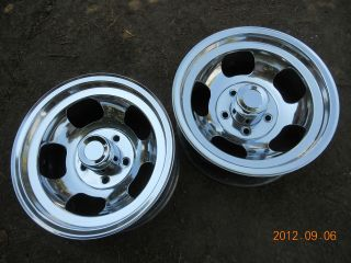 JUST POLISHED 15x8.5 SLOT MAG WHEELS CHEVY TRUCK VAN MAGS GASSER INDY