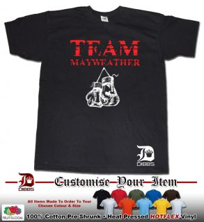 MAYWEATHER T SHIRT FLOYD MAYWEATHER TSHIRT MONEY TEAM BOXING GLOVES