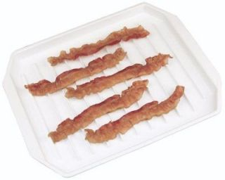 Microwave Compact Bacon Rack Hotdog/Burger Cooker Tray Food Defroster
