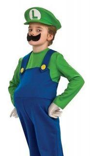 SUPER MARIO Brothers DELUXE LUIGI Costume Size 4/6 10/12 Nintendo