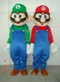 Super Mario and luigi Adult Two Mascot Costume For Festival PARTY