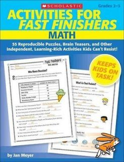 ACTIVITIES FOR FAST FINISHERS MATH   JAN MEYER (PAPERBACK) NEW