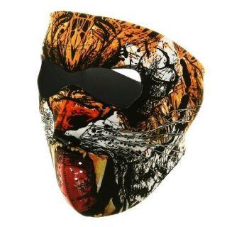 in 1 Reversible Motorcycle Biker, Skiing, Neoprene Face Mask