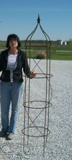 Large Wrought Iron Rose Topiary Garden Plant Trellis  Built to last