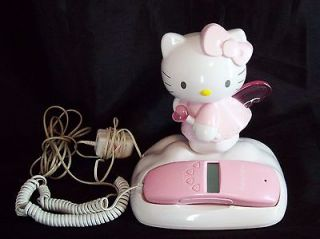 Hello Kitty Light Up Pink Angel Glow Corded Phone Telephone Caller ID