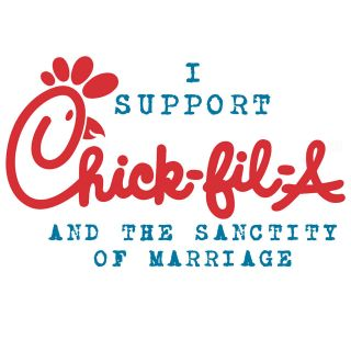 CHICK FIL A/ SANCTITY OF MARRIAGE Conservative Political T Shirt