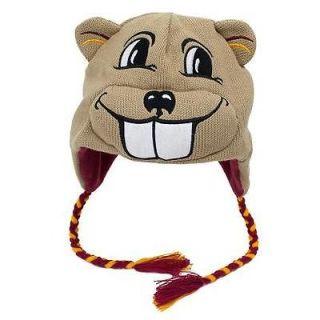 Golden Gophers Winter Ski Laplander Hat Cap GIFT NWT Mascot Goldy