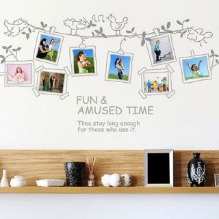 Birds Song Photo Frame Family Memory Wall Decor Sticker Decals Art