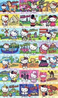 HELLO KITTY AROUND THE WORLD SET OF 21 CARDS+