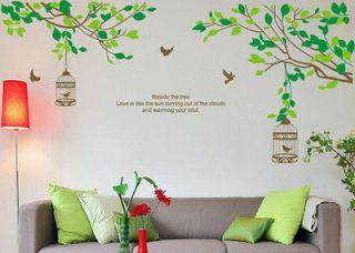 New Lovers Tree&Birdcage Birds Wall Stickers Sticker Decor Decals