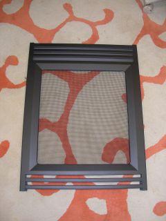 Heat n Glo Black Metal End Door Screen Corner Fireplace DF 6 EP New