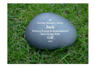 Memorial Gift Personalised Pebble (Stone effect)