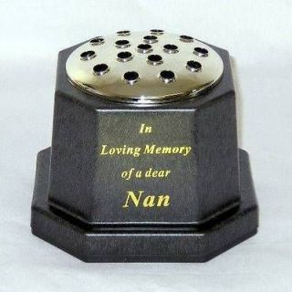 In Loving Memory Of A Dear Nan Memorial Grave Flower Vase