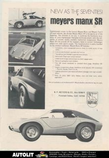1970 Meyers Manx SR VW Kit Car Dune Buggy Ad