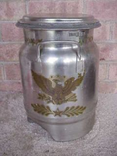 EAGLE 8 QUART STAINLESS STEEL MILK MOONSHINE STORAGE CAMPING WATER