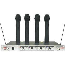 Nady 401X Quad WHT Handheld VHF Wireless Microphone System Set A