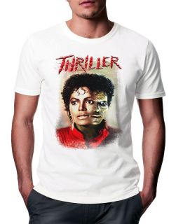 New Mens Michael Jackson Pop Singer Album Thriller Zombie Art T Shirt