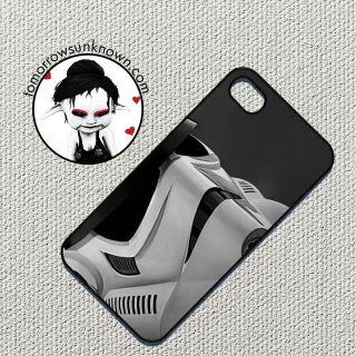apple iphone 4 4s case cover smartphone star wars storm trooper helmet