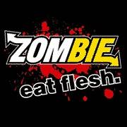 Zombie Eat Flesh Funny T Shirt BLACK SM   4XL