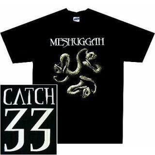 MESHUGGAH Catch 33 Official T SHIRT M L XL Heavy Metal T Shirt NEW