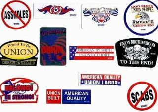 THE HEAVY HITTER UNION HARDHAT STICKERS HARD HAT IBEW