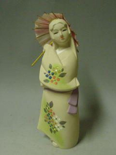 Japanese Ceramic HAKATA NINGYO Doll 20cm / Umbrella