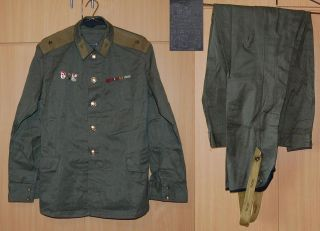 Soviet Army Officer Uniform Jacket Breeches Military Suit Russian CA