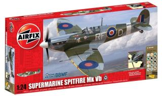 50055A Supermarine Spitfire MkVB 1/24 Scale Model Kit Starter Set