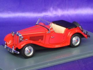 MG TD MK II 2 NEO 43801 1:43 NEW RED FINE RESIN MODEL CAR