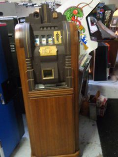 MILLS 5 cent EXTRAORDINARY ANTIQUE CONSOLE Slot Machine In ORIGINAL