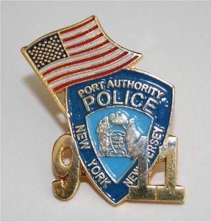 NEW 9 11 NY NJ PORT AUTHORITY w/ FLAG HAT / LAPEL PIN NIP