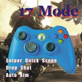 New Quick Scope Xbox 360 Rapid Fire Modded Limited Blue Controller 17