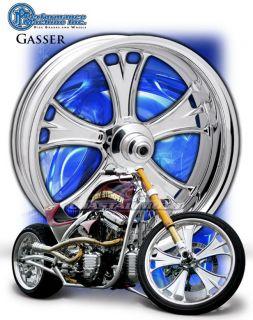 Performance Machine Gasser Chrome Motorcycle Wheels Harley Streetglide
