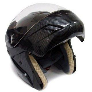 DOT FLIP UP MODULAR MOTORCYCLE STREET HELMET CARBON ~L