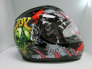 HEADPHONE FULL FACE STREET BIKE MOTORCYCLE DOT HELMET S,M,L,XL,XXL