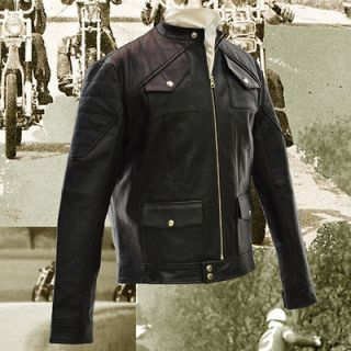 Dust leather motorcycle jacket chopper harley cafe racer lewis bates