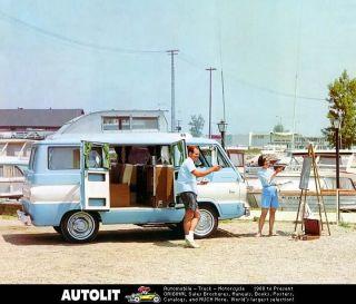 1963 ? Dodge A100 Van Wagon RV Motorhome Factory Photo