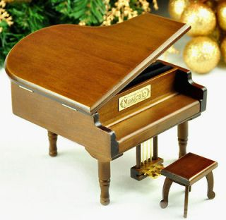 ITSUMO NANDODEMO Piano Music Box from Sankyo Musical Movement (black