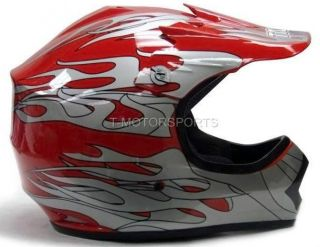 New Youth Kids Motocross Motorcross MX ATV Dirt Bike Helmet Spider Red