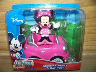Fisher Price Mickey Mouse Clubhouse Minnies Figure & Car Pack NIP