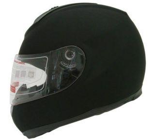 SOLID MATTE BLACK FULL FACE MOTORCYCLE STREET HELMET~S/M/L/XL/XXL