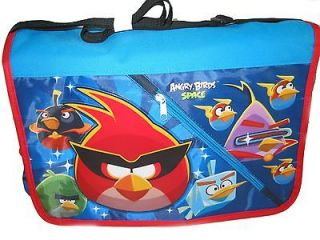 Angry Birds SPACE Ice Cube Green Monster Large Messenger Bag tote