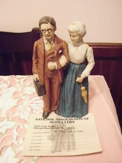 1973 Natl Assoc of Avon Collectors Club Bottle/Figurine M/M McConnell