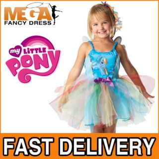 Rainbow Dash My Little Pony Girls Fancy Dress Tutu Fairy Kids Costume