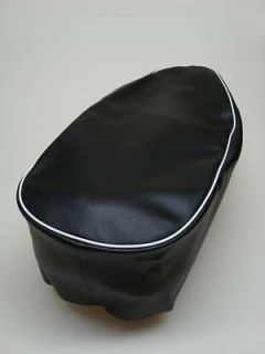 Motorcycle seat cover   BSA Bantam D7 onwards with white piping *free