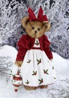 HOLLY BELLE Musical Bearington Teddy Bear & Holiday / Christmas