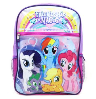 New My Little Pony friendship Magic 16 Large Purple Girls School