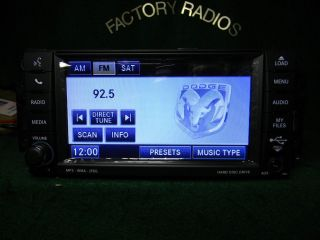 CHRYSLER DODGE JEEP MYGIG DVD Hardrive Sirius RADIO P05064678AE HIGH